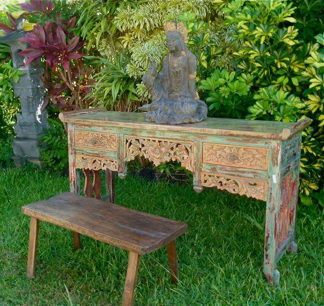 asianartmaui.com/antique/carved/teak/console/painted